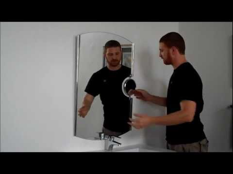 Video for Modern Large Round Frameless Mirror with Magnification