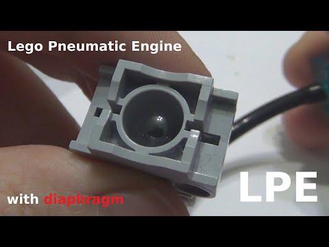 Lego Pneumatic Engine with Diaphragm / Пневматический двигатель из Лего с мембраной