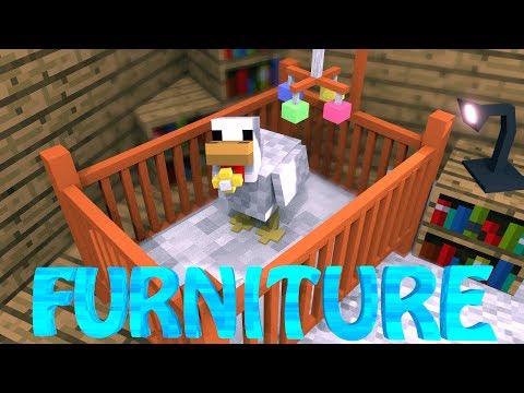 FURNITURE MOD: Minecraft DecoCraft Mod Showcase! (FURNITURE IN MINECRAFT)