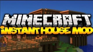 Minecraft: INSTANT HOUSES! (Tents, Houses, Castles&MORE!) | Mod Showcase