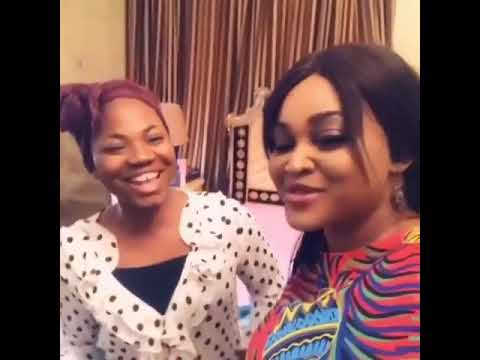 Mercy Chinwo on stage with Mercy Aigbe for  Another Father's Day