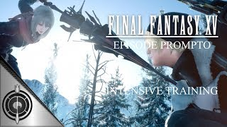 After completing Episode Prompto, the Intensive Training is unlocked! Prepare yourself as you spar with Aranea! We managed to complete this on our first run/try! With only 1 potion, 2 elixirs & 1 phoenix down, do you think you've got what is takes to best the Imperial Dragoon?!