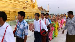 Magway Myanmar  City new picture : Remarkable procession at temple in Magway Myanmar