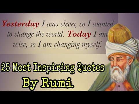Quotes on life - Rumi - 25 Most Inspiring Quotes