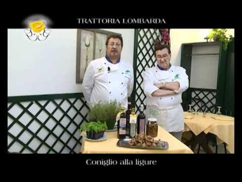 """Genova Gourmet, Trattoria Lombarda, video ricetta """"coniglio alla ligure"""""""