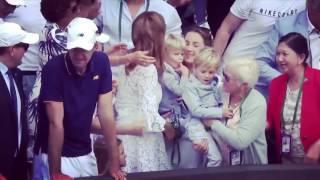Federer got emotional as kids make way to the centre court. #Federer #Wimbledon #8thWimbledonTitle #Perfection ❤️