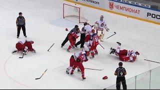 Major brawl at CSKA - Jokerit game