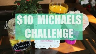 In this collaboration video we were challenged by Jaime Thomas (decordream) to spend no more than $10 in Michael's craft store and show how we used our items.Follow me on IG: instagram.com/simply_preet*Participants*1. Jaime Thomas:https://www.youtube.com/watch?v=Lj205qYbWSc2. Trudy Lindsayhttps://www.youtube.com/watch?v=Ir3VzE8Nqs43. CreatvieCreationsbyJMKhttps://www.youtube.com/watch?v=iEvq9mmVSw84. LivingLikeJuliehttps://www.youtube.com/watch?v=RWjO8XdK-A85. BeMyGuestWithDenise:https://www.youtube.com/watch?v=bYDYE1gdGm46. Veri Keri https://www.youtube.com/watch?v=mKXzQJxIEHoThanks for watching!! xoxWatch my desk tour video: https://www.youtube.com/watch?v=zmrsl6J1_Z0