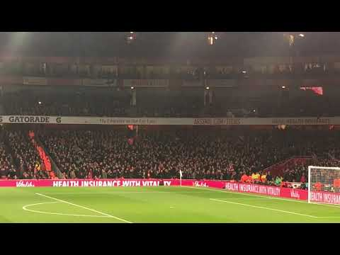 "Liverpool Fans Outsing Arsenal With ""Allez, Allez"" At The Emirates In The Premier League (Nov 2018)"