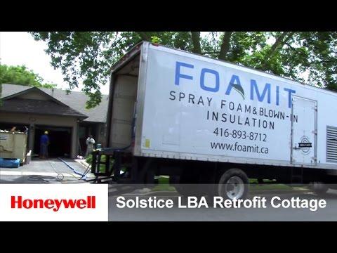 Solstice LBA Used to Retrofit Insulation in Canadian Garage