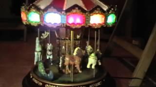 mr christmas carousel video