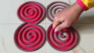 Easy & Beautiful Rangoli Designs जो आप भी बना लेंगे    Rangoli Designs Using Coils for beginners –