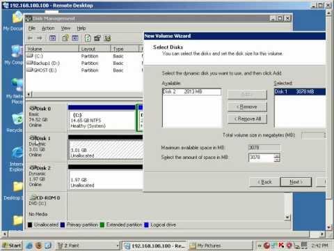 Disk Management on Windows 2003 Server (by Kifayat Ullah) - URDU