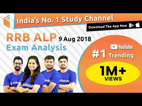 RRB ALP (9 Aug 2018, Shift-I) Exam Analysis & Asked Questions