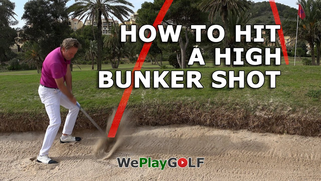How to hit a high bunker shot! A Simple tip for a simple golf shot!