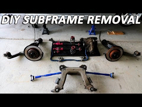 E36 M3 Subframe Removal for a FULL REBUILD! *Step by step DIY*