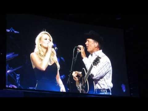 George Strait and Miranda Lambert share the stage