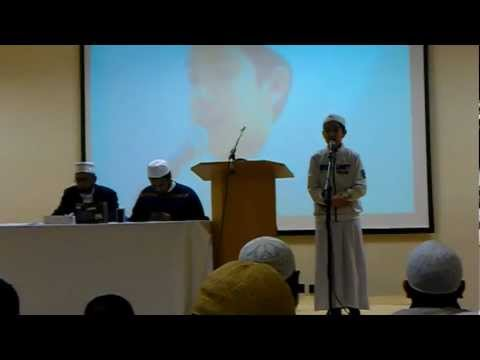 My nephew Thawban Saeed Zaki reciting from the holy Quran on a competition