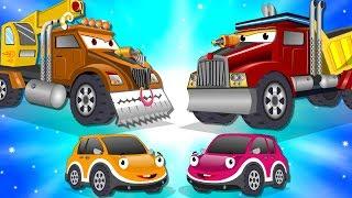 Video Crane Truck vs Super Dump Truck | Police Car Street Vehicles Kids Cartoon Songs MP3, 3GP, MP4, WEBM, AVI, FLV September 2018