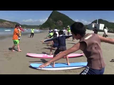 種子島の学校活動:花峰小学校サーフィン教室