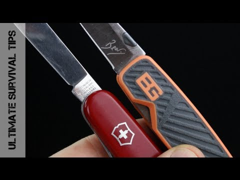 Victorinox Swiss Army Knife vs. Bear Grylls Pocket Tool - REVIEW - Best Pocket Knife? Let's see...