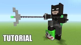 Minecraft Tutorial: How To Make A BATMAN Statue!! (Batman V Superman)
