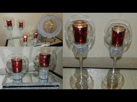 Diy Dollar Tree Home Decor Candle Holders Mirrored Home Decor Diy