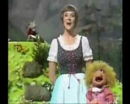 Julia Andrews as guest on the Muppet Show