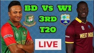 Live Cricket: Bangladesh Vs West-Indies 3rd T20 (Live)-Cricsports360