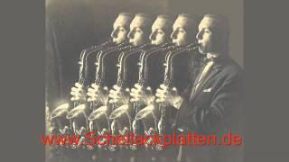 Eddy Wallis Jazz-Orchester spielt: Jede Geige, jeder Brummbaß, alle Saxophone spielen Rumbas