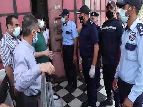 إجراءات شرطة بلديات محافظة غزة لمواجهة جائحة كورونا