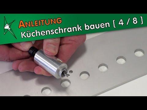Küchenunterschrank bauen [ 4 / 8 ] - Accura-Bohrschablone für Lochreihenbohrungen