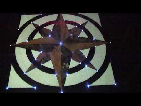 Zestaw Fugi - oświetlenie podłogowe do fug, świetlista rozeta, świecąca podłoga