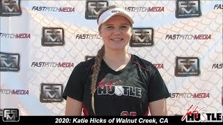 2020 Katie Hicks Power Hitting First Base and Outfield Softball Skills Video