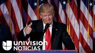 El discurso de Donald Trump tras ser elegido como presidente de Estados Unidos