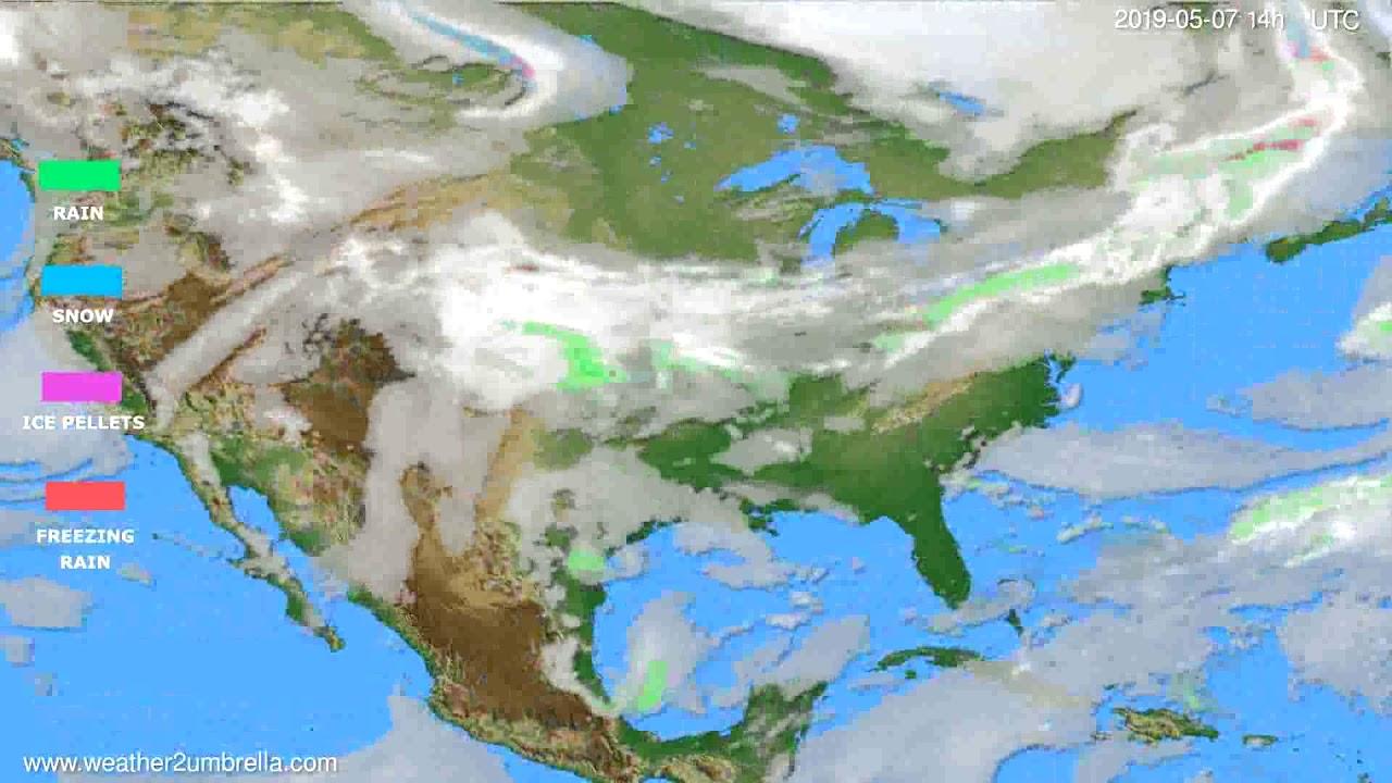 Precipitation forecast USA & Canada // modelrun: 00h UTC 2019-05-05