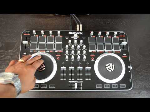 Numark Mixtrack Quad 4-Channel USB MIDI Digital DJ Controller Review Video