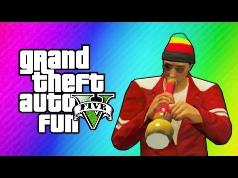 GTA 5 Online Funny Moments - Carlos, Tripping out, Under Map Glitch, Balancing Helicopters!
