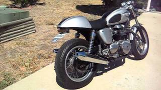 4. 2005 Triumph Thruxton -exhuast wrap - cafe racer - smoking wrap