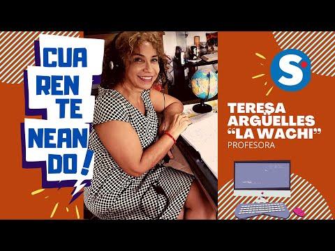"""Cuarenteneando con la profesora Teresa Argüelles, mejor conocida como la """"Wachi""""."""