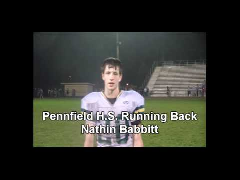 Pennfield Running Back Nathan Babbitt interviewed by wkzo.com&#39;s Zeke Trezevant.