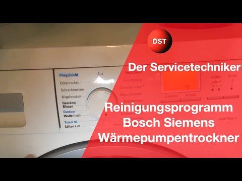 Bosch Siemens Trockner reinigen Tipp um Fehlern vorzubeugen/dryer