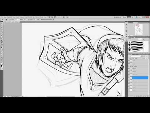 Photoshop Tutorial – Manga Zeichnen – Outlines (German)