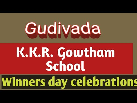 K.K.R.Gowtham, School Gudivada Winners Day Celebrations