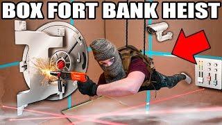 BILLIONAIRE BOX FORT BANK HEIST!! 📦💰 Vault Hacking, Robots, Lasers & More!