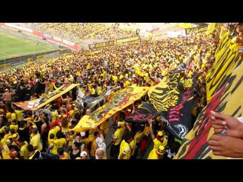 ☂SUR OSCURA☂ Canticos previo al encuentro con Ind. del valle 05/10/2014 - Sur Oscura - Barcelona Sporting Club
