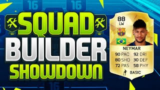 FIFA 16 SQUAD BUILDER SHOWDOWN!!! NEYMAR!!! 88 Rated 5* Skill 5* Weakfoot Squad Builder Duel, neymar, neymar Barcelona,  Barcelona, chung ket cup c1, Barcelona juventus