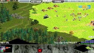 HeHe vs Ngạo Thế Quần Hùng Random 30/7/2015   Trận 1, game đế chế, clip aoe, chim sẻ đi nắng, aoe 2015