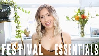 » Hello Stranger Friends! Today's video I'm sharing with you my ultimate list of festival essentials! I find my festival experience so much more comfortable when I pack smart :) Hope this is helpful to you!Do a sit up every time I say Coachella or Shambhala... you'll have a 6 packThings I Bring to a FESTIVAL:Saje Deodorant - http://bit.ly/2qdFVMvKiehls Sunscreen - http://go.magik.ly/ml/55sd/Kiehls Face Sunscreen- http://go.magik.ly/ml/55se/Dry Shampoo - http://go.magik.ly/ml/55sf/Urban Decay Makeup Setting Spray - http://go.magik.ly/ml/55sg/Phone + Portable Phone ChargerPads Music Earplugs - http://bit.ly/2qYjbPKBath and Body Works Hand Sanitiser - http://bit.ly/2nAJlaWGranola Bar // FoodElectrolyte Packets - Drip Drop  (Vega brand is also great)Elastic Blotting Paper - http://amzn.to/2qlCkYaBandaidsLighterSaje Aromatherapy Essential Oil (Rosemary)Mini Ring light for Phone Urban Decay makeup remover - http://go.magik.ly/ml/55sw/Baby Wipes Saline Nasal Spray Advil Comfort Item - Hoodie/ SweaterSleep Mask + EarplugsI forgot to edit the Chapstick clip in!!! 👌🏼Absolutely pack your regular toiletries!! I just don't go through everything I pack. Maybe one day I should... 😆🙌🏼💗✖ SUBSCRIBE so you don't miss my uploads - http://bit.ly/karissapukas ✖✖ No new vides here? Check- www.youtube.com/creepingonkarissa ✖ Watch my last video- 'What's in my Gym Bag?' - https://www.youtube.com/watch?v=YJwoz-3dKyc     ✖▬▬▬▬▬▬▬▬▬▬▬▬▬ ☼ ▬▬▬▬▬▬▬▬▬▬▬▬ Come Creep me on... MY VLOG CHANNEL: www.youtube.com/creepingonkarissaSnapchat: karissapukasInstagram: http://instagram.com/karissapukasTwitter: https://twitter.com/#!/KARISSAPUKASFacebook: http://www.facebook.com/karissapukas  Pinterest: http://www.pinterest.com/karissapukas▬▬▬▬▬▬▬▬▬▬▬▬▬ ☼ ▬▬▬▬▬▬▬▬▬▬▬▬BUSINESS Related: «  Please contact me on karissa@infagency.com»→ This video is not sponsored.  (Thoughts/opinions are as always, my own (how boring to take someone else's ;) xx