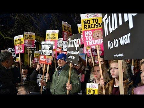 Μαζικές διαδηλώσεις κατά του Τραμπ σε πολλές ευρωπαϊκές πόλεις